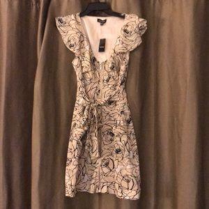 Nude Floral BeBe Dress Size M